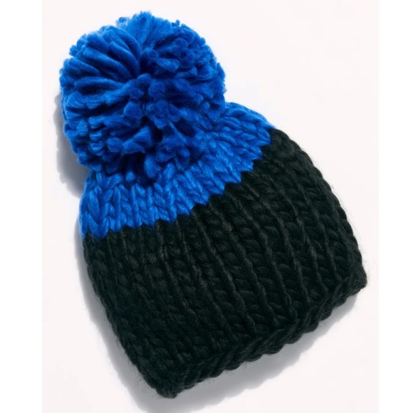 NWT Free People Cozy Up Color Block Pom Beanie